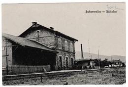 Scherwiller - Gare - Scherweiler - Bahnhof - édit Steiner Dambach - Autres Communes