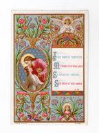 Jésus Dans Sa Tendresse... Ange, Enluminure, 1886, Série A N° 30 - Andachtsbilder