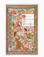 Ame Ravie... Ange, Enluminure, Fleurs, Série A N° 49 - Andachtsbilder