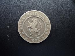 BELGIQUE : 10 CENTIMES  1864  KM 22    TTB - 1831-1865: Léopold I