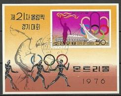 KOREA DPR   JUEGOS OLIMPICOS MONTREAL 76   USADO - Verano 1976: Montréal