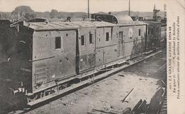 Train Sanitaire Atteint D'éclat D'obus En Gare De Verdun - Railway Zug - Croix-rouge Ambulance - Weltkrieg 1914-18