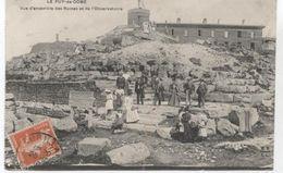63...LE PUY DE DOME ENSEMBLE DES RUINES DE L OBSERVATOIRE 1910 - France
