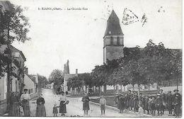 Cher - Rians -  La Grande Rue Très Animée - Autres Communes