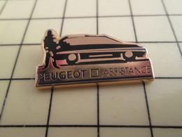 Pin516A Pin's Pins /  Rare Et De Belle Qualité : AUTOMOBILES / PEUGEOT ASSISTANCE Par CECOP - Peugeot