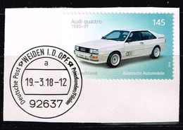 Bund 2018, Michel# 3367 O Automobile  Audi Quatro Auf Papier - BRD