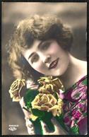 B2598 - Hübsche Junge Frau - Coloriert - Pretty Young Women - Mode Frisur - Gel Kändler 1926 - Photographie
