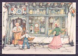 Nederland - Illustrators - Anton Pieck - Gebruikt  - 180 -  2 Scans - Illustrators & Photographers