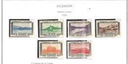 Ecuador PO 1953 Scene E Vedute Scott.576/581+See Scans On Scott.Pages - Ecuador
