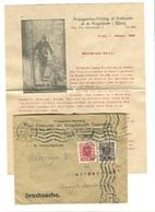 AVEUGLES BLIND Propaganda VERBANDES Der KRIEGSBLINDEN ÖSTERREICHS Brief Nach Denmark 1922 Mit BILD Und Inhalt - 1918-1945 1. Republik