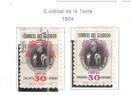 Ecuador PO 1954 Cardinal De La Torre Scott.582+583+See Scans On Scott.Pages - Ecuador