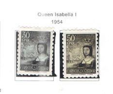 Ecuador PO 1954 Queen Isabella Ia  Scott.584+585+See Scans On Scott.Pages - Ecuador