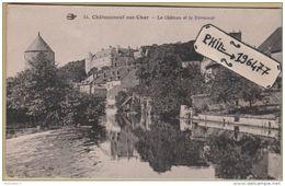 18 Châteauneuf Sur Cher - Cpa / Le Château Et Le Déversoir. - Chateauneuf Sur Cher