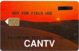 Venezuela - GPT Engineers Test Card ''Desert'' Not For Field Use, Cn.1600xxxx, 1000U, ≈100ex, Mint (check Pics!) - Venezuela