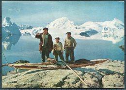 1959 Greenland Native Sealers 'QIVITOQ' Film Godthab Postcard. Pentothal Sodium Medical Advertising - Doctor, New York - Covers & Documents