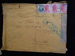 Enveloppe 1930/40 Espagne Republica Espanola Censura   Lettre  CL18 - Marques De Censures Républicaines