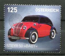 """Österreich,Austria 2018 Mi.Nr.3376 """"Automobil Steyr 50-Baby- """"1 Wert ** MNH Postf.-mint - Autos"""