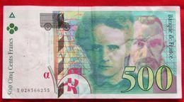 Billet 500 F Pierre Et Marie Curie N° T 028566255 - 1992-2000 Dernière Gamme