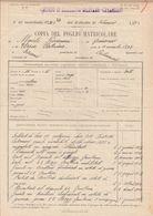 FOGLIO MATRICOLARE 67 E 82° REGGIMENTO FANTERIA - PERIODO 1917/1921 - DISTRETTO DI CATANZARO - 9/12/1923 - Documenti