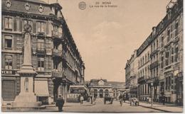 MONS  LA RUE DE LA STATION - Mons