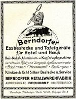 Original-Werbung/ Anzeige 1924 - BERNDORFER METALLWARENFABRIK / ESSBESTECKE - ARTHUR KRUPP - BERNDORF - Ca. 100 X 135 Mm - Advertising