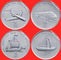 North Korea, 1/2 Chon 2002 - Four Coins In One Lot - Corée Du Nord
