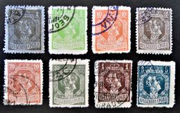 EFFIGIE DE PIERRE 1ER ET DU PRINCE-REGENT ALEXANDRE 1918 - OBLITERES -  YT 133a + 135/38 + 141 + 143/44 - Serbie
