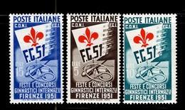 Italie YT N° 599/601 Neufs ** MNH. TB. A Saisir! - 6. 1946-.. Repubblica