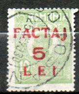 ROUMANIE  Colis Postaux 5l Sur 10b Vert 1928 N°5 - Paquetes Postales