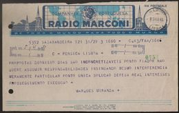 Telegrama - Telegram Portugal - Angola, Sa Da Bandeira To Lisbon 1948 - Companhia Portuguesa Radio Marconi - Advertising - Portugal