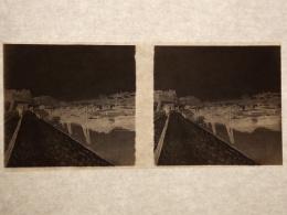 Plaque Stereo Negatif Quai De Rouen Bateau La Pierre 2 - Plaques De Verre