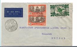 FDI008 / Neukaledonien 1948 In Die Schweiz - Cartas