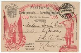 Suisse // Schweiz // Switzerland //  Entier Postaux  //  Inauguration Du Simplon 1906 (superbe état) - Ganzsachen