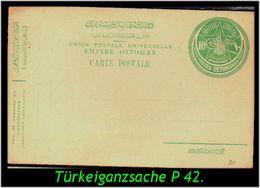 TURKEY , EARLY OTTOMAN SPECIALIZED FOR SPECIALIST, SEE...Ganzsache Mi. Nr. P 42 - 1858-1921 Impero Ottomano