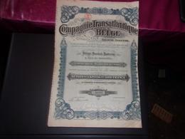 COMPAGNIE TRANSATLANTIQUE BELGE (1919) - Actions & Titres