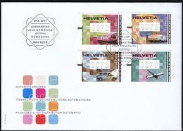 Switzerland 2001 / Automat Stamps, Automatenmarken / Train, Truck, Car, Airplane / FDC - FDC