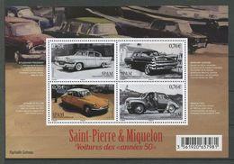 SPM Miquelon 2015 N° F1133 ** ( 1133/1136 ) Neuf MNH Superbe Voitures Studebaker Mercury Citroën ID Renault 4 Transports - St.Pierre Et Miquelon
