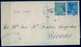 1876 , CORUÑA , ENVUELTA CIRCULADA ENTRE EL FERROL Y RIBADEO , ED. 154 , 164 - 1875-1882 Royaume: Alphonse XII