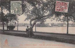 """07526 """"VIETNAM - TONKIN - HANOI - PETIT LAC PRES DE L'AVENUE BEAUCHAMP"""" ANIMATA. CART SPED 1918 - Vietnam"""