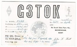 CARTE - QSL - RADIO - ENGLAND - ANGLETERRE - 1965- . - Radio-amateur