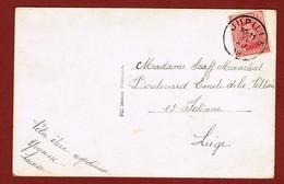 Jupille  Noodstempel Fortune Op Nieuwjaarskaart 1919 - Postmark Collection