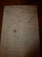 1834 Et 1839 Manuscrits Avec Cachets Concerne Lambert Laboureur à Charrey, Baillieux,etc (travail Contre Nourriture Etc - Manuscrits