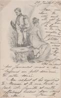 Illustrateur Raphaël TUCK, Un Mot à La Poste Série 91 - 3 - CPA - Couple - Voyagé 1901 - Tuck, Raphael