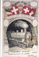 MEZZI DI COMUNICAZIONE PER TERRA E PER ACQUA ITALIA SVIZZERA 1906 EDIZIONI DE AGOSTINI STAMPA 1995 - Treni
