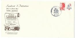 ENVELOPPE / 2° BOURSE CARTOPHILE RIGNAC AVEYRON 1987 - Cachets Commémoratifs