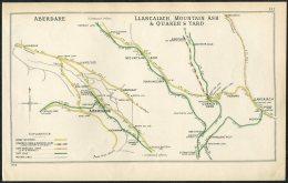 Wales Aberdare, Llancaiach, Mountain Ash & Quaker's Yard Railway Train Map - Geographical Maps