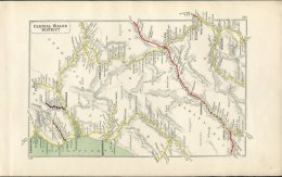 Central Wales District Railway Map. Great Western, London Midland & Scottish. Brecon Talyllyn, Aberystwyth - Geographical Maps