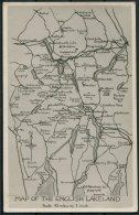 Map Of The English Lakeland RP Postcard. G.P. Abraham, Keswick - Maps