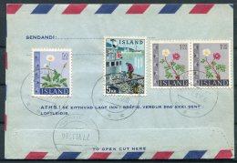 1962 Iceland Aerogramme, Aerogram, Loftbref. Reykjavik Postur. Kopavogur Registered - 1944-... Republic