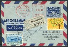 1962/6 Iceland Registered Aerogramme, Aerogram, Loftbref. Reykjavik Postur, Hafnarfjordur Europa - 1944-... Republic